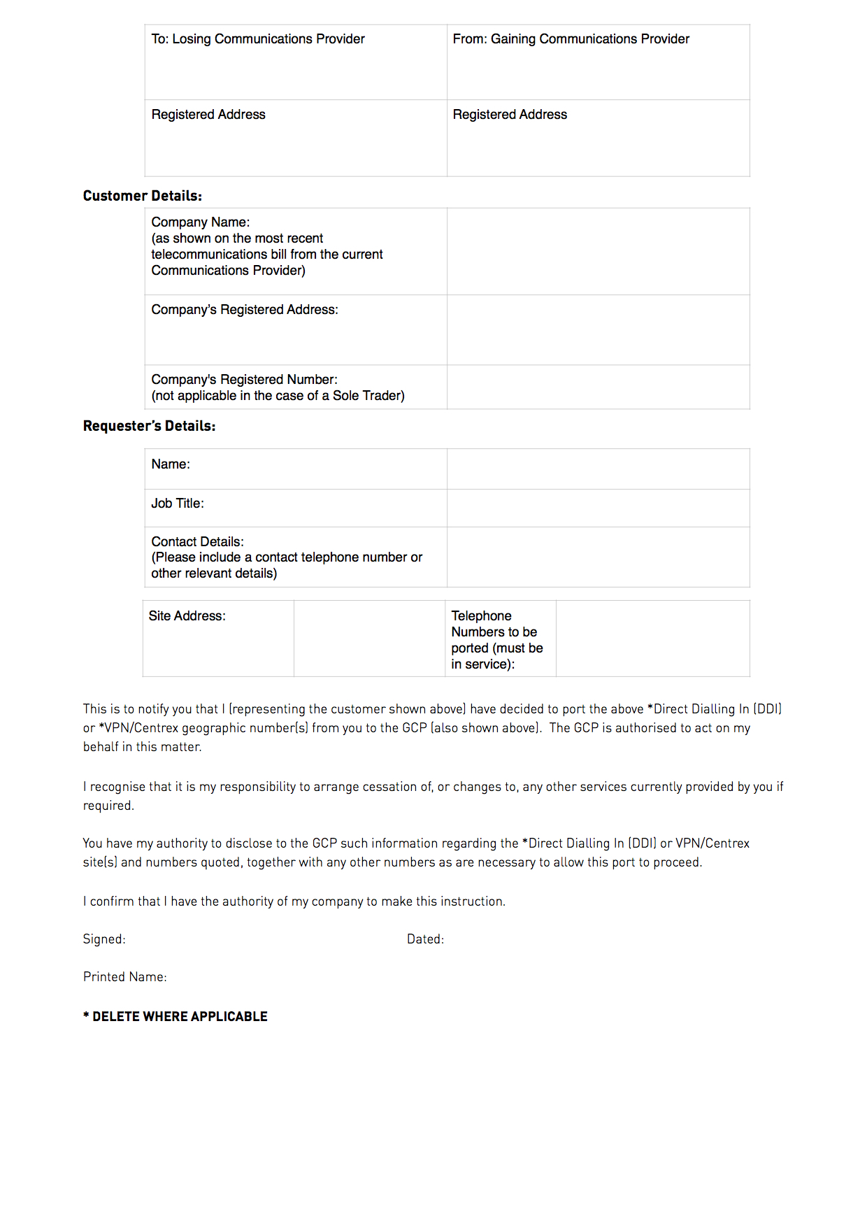 Letter of authorisation example simwood support centre spiritdancerdesigns Choice Image